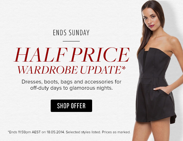 Half Price Selected Styles + Free Shipping On All Orders 50$ at TheIconic.com.au
