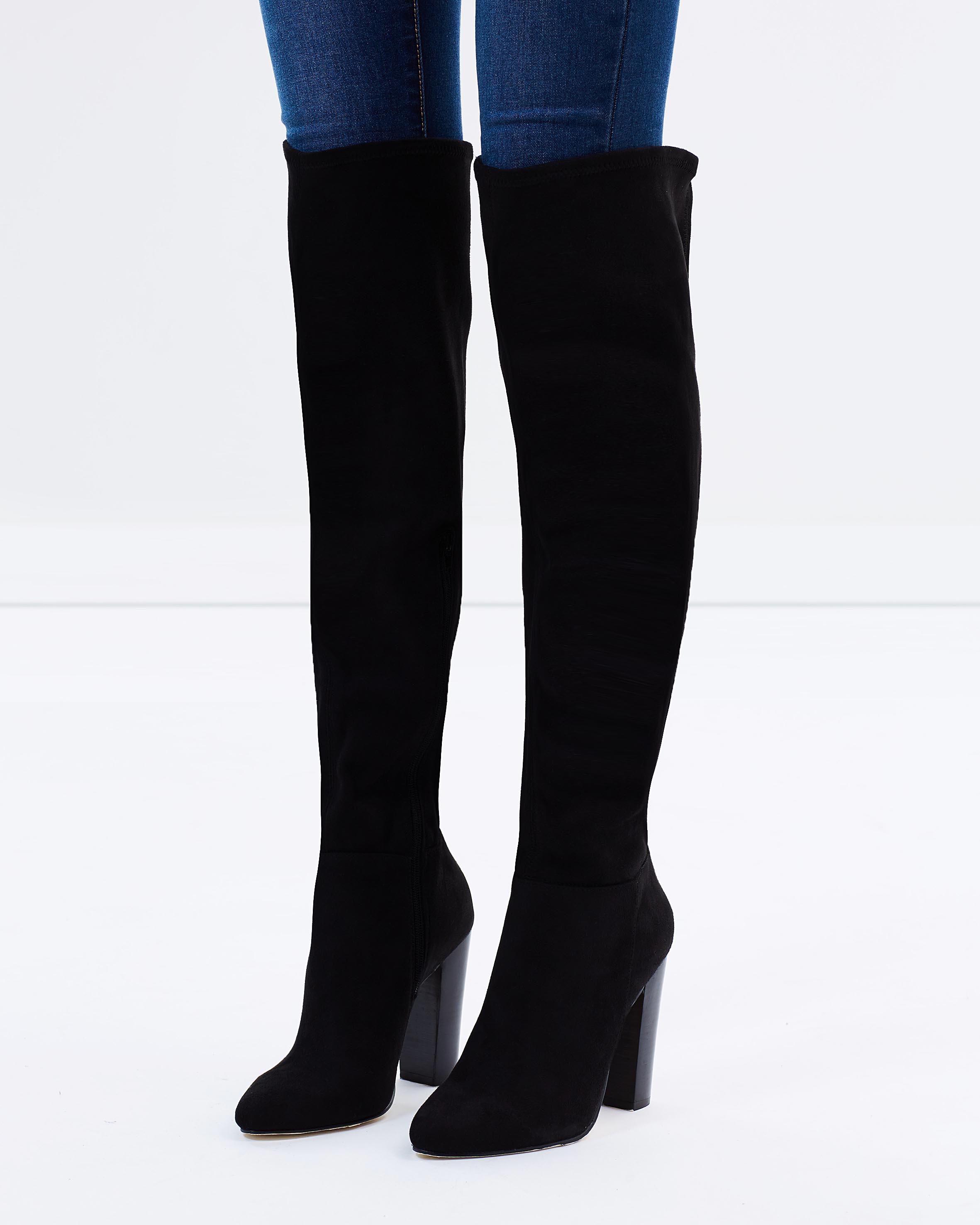 Black suede boots online