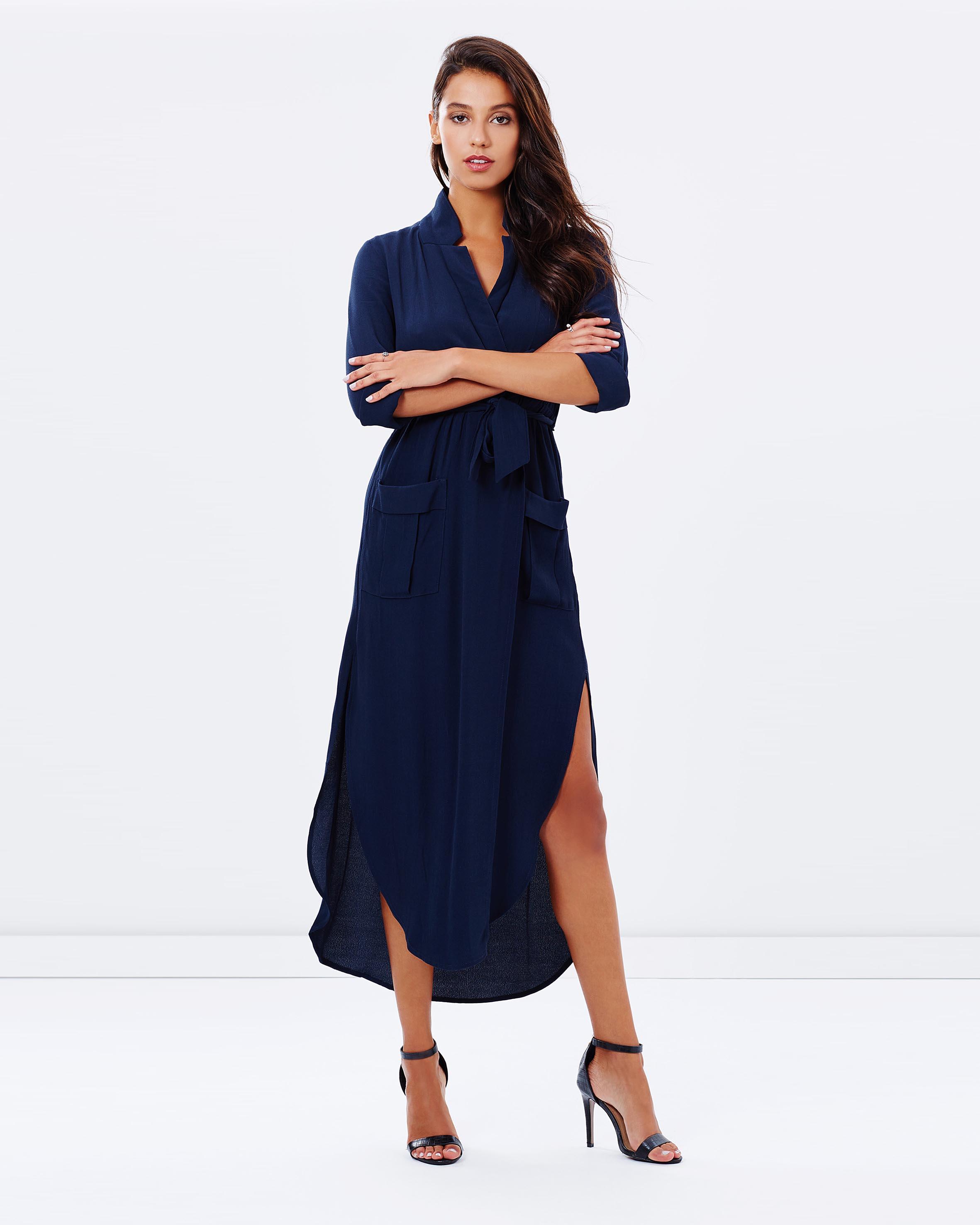 Long black maxi dress size 20