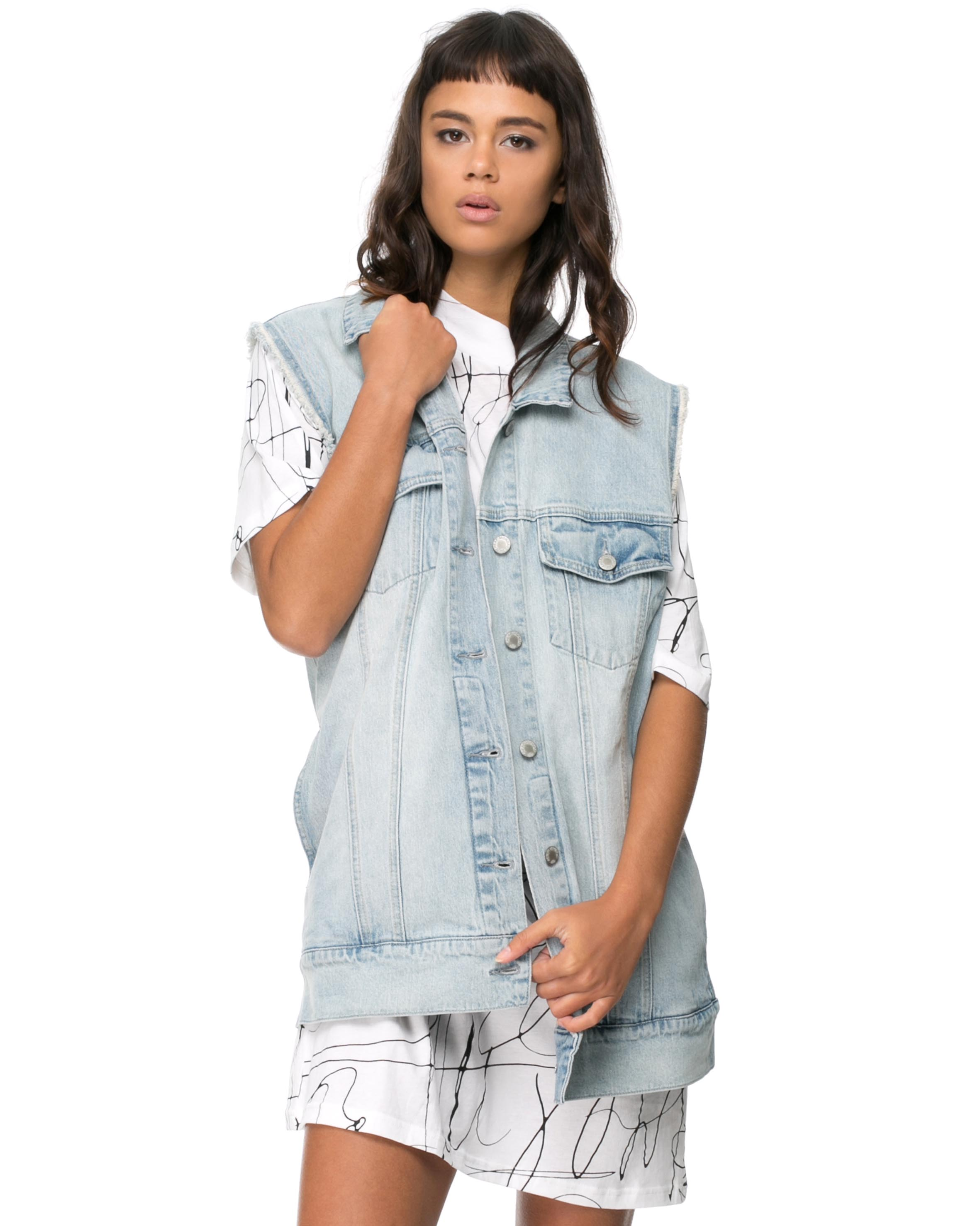 Cheap Monday Slouchy Gilet $99.00 $29.70 · First Base Classic Distressed Denim Jacket $189.00 $132.30