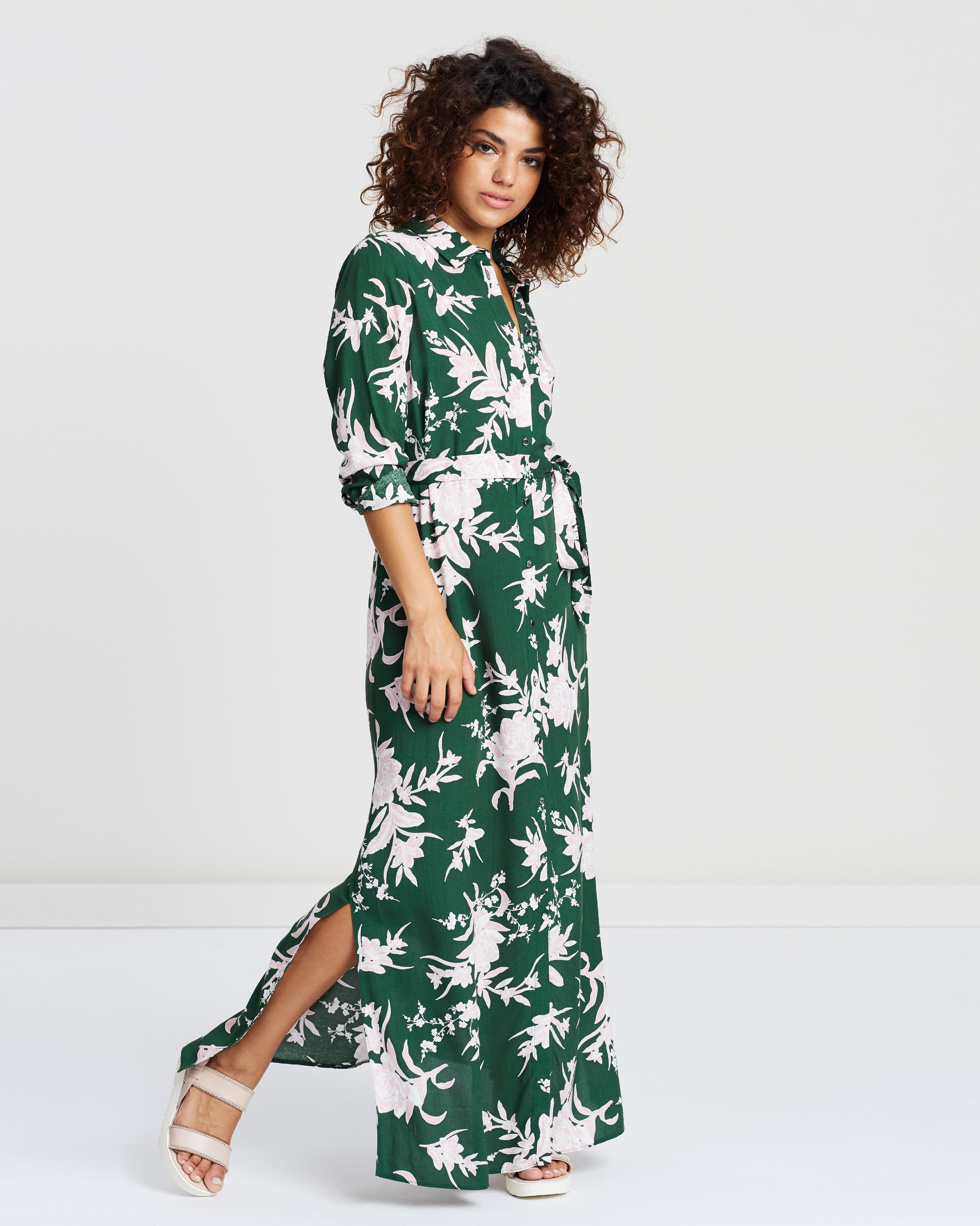 New Floral Maxi Shirt Dress by DP Petite Online | THE ICONIC | Australia &XQ68