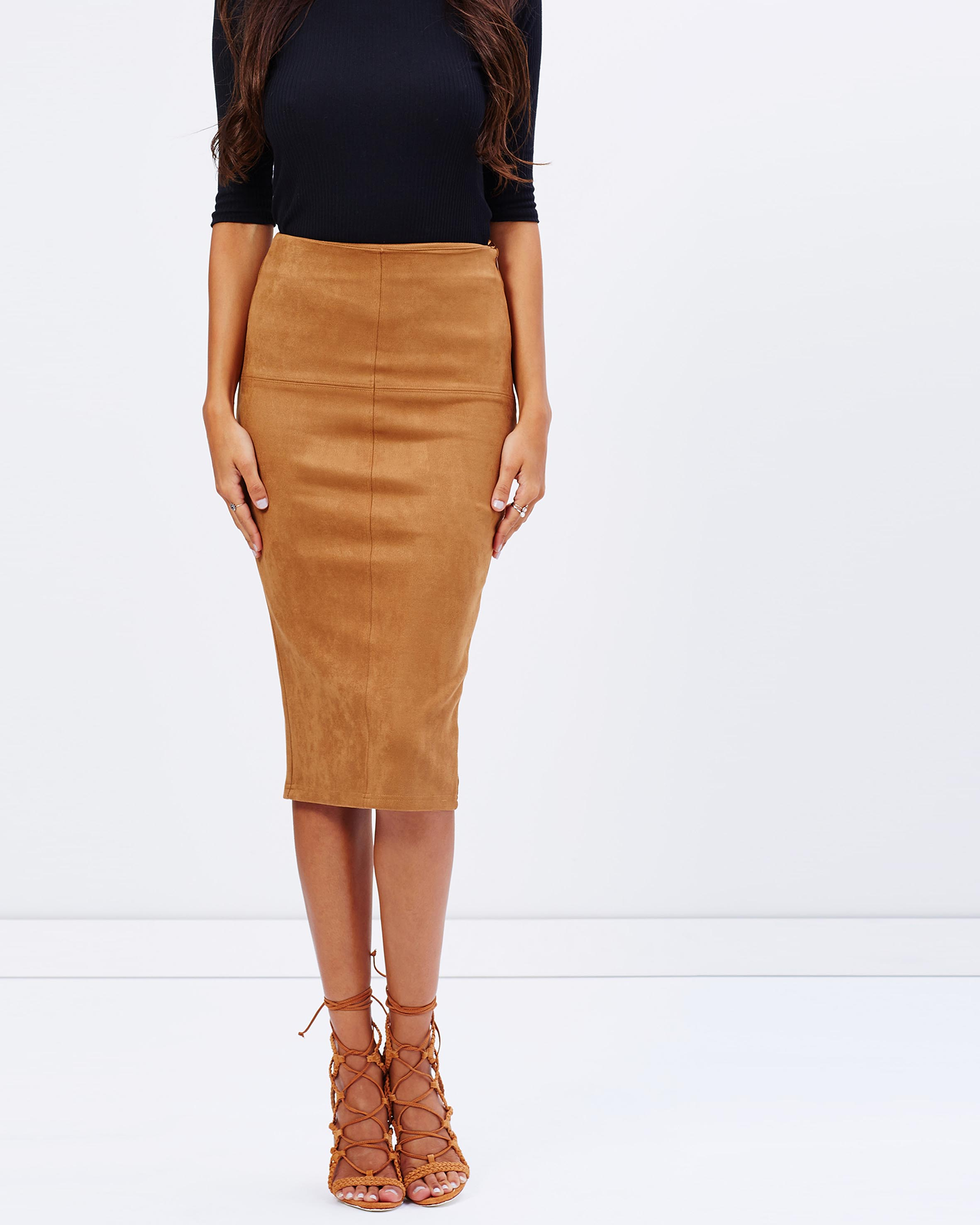 Tan Leather Skirt Australia - Redskirtz