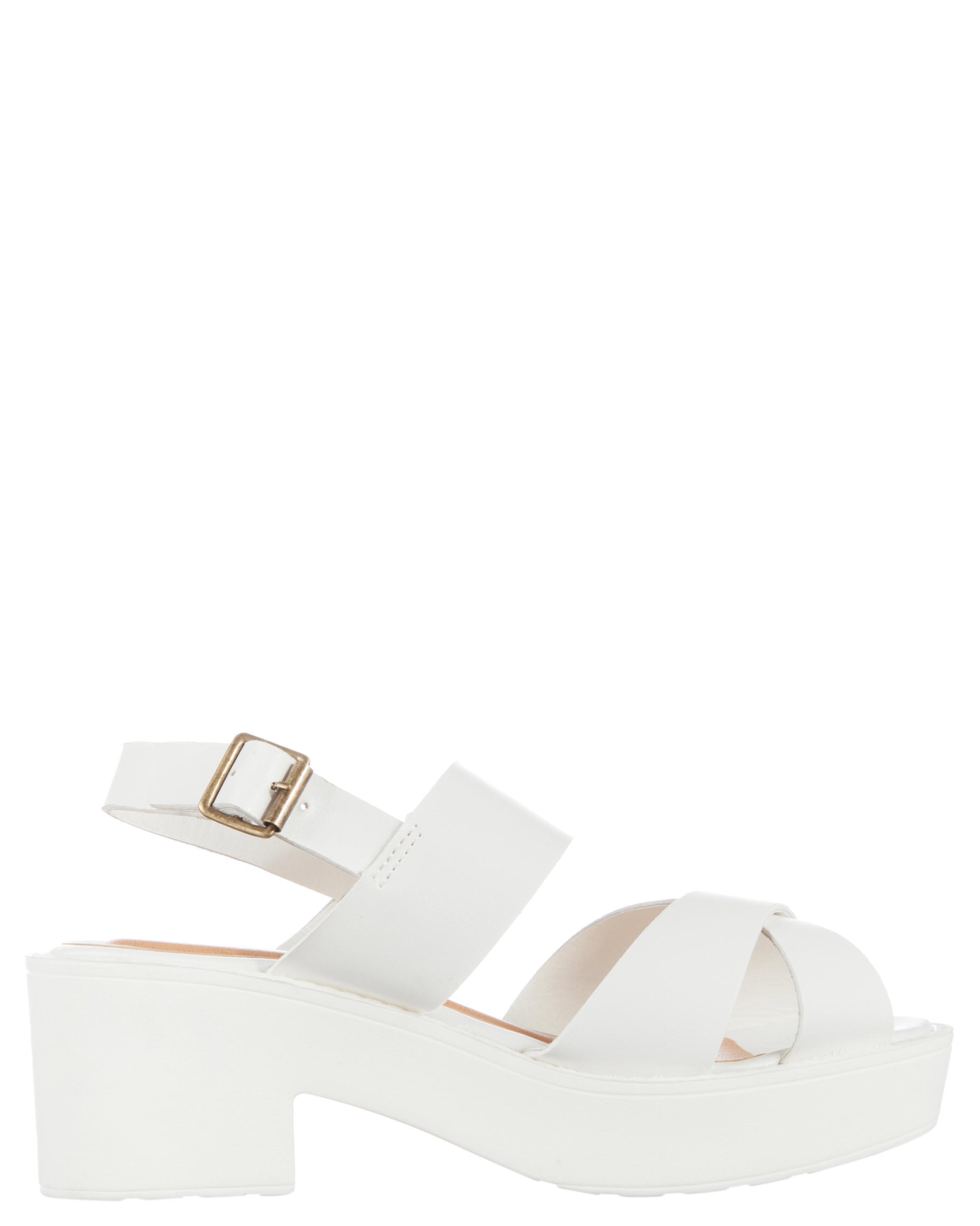 White sandals rubi shoes - Shoes 5 Polyvore