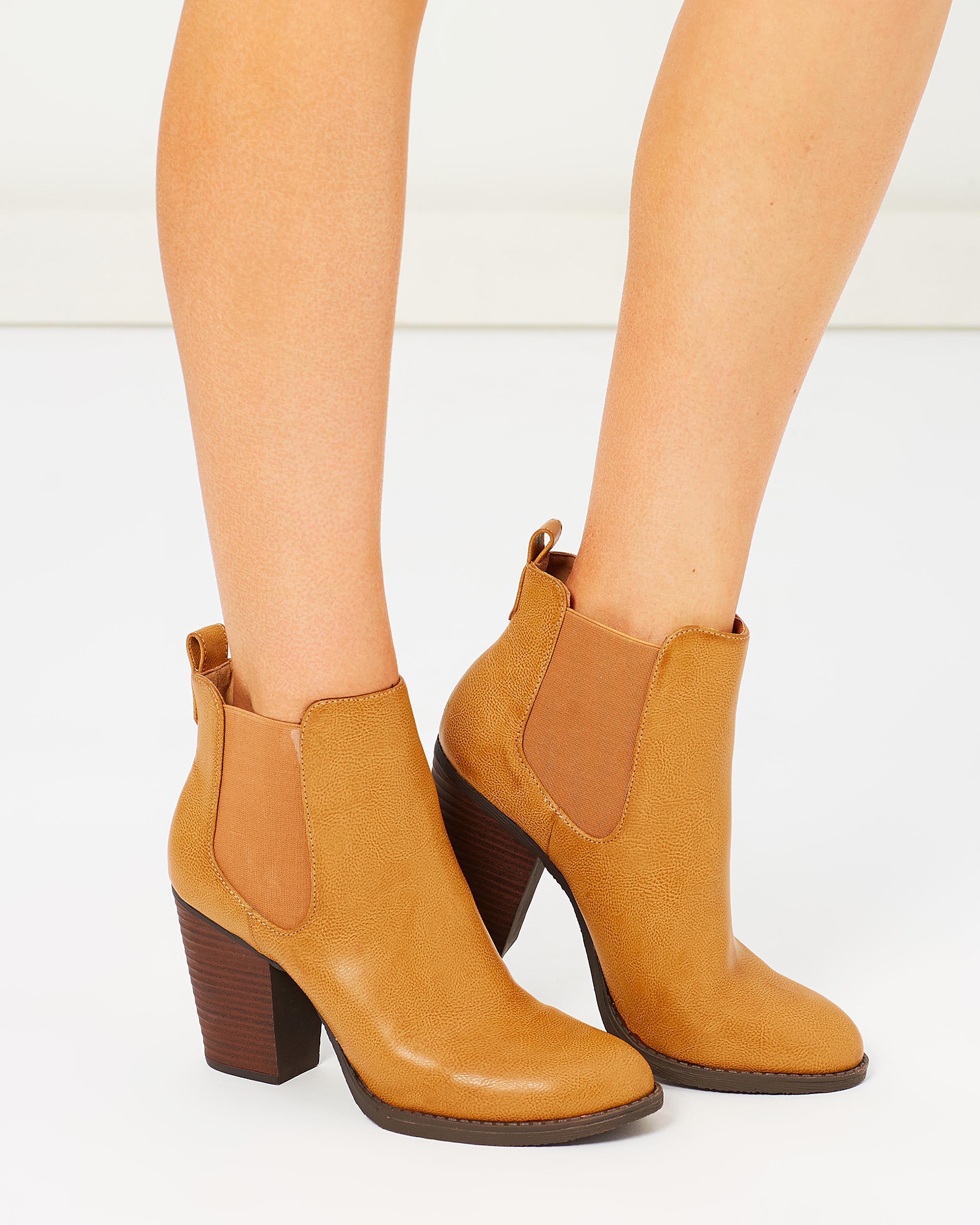 Tan Ankle Boots For Women