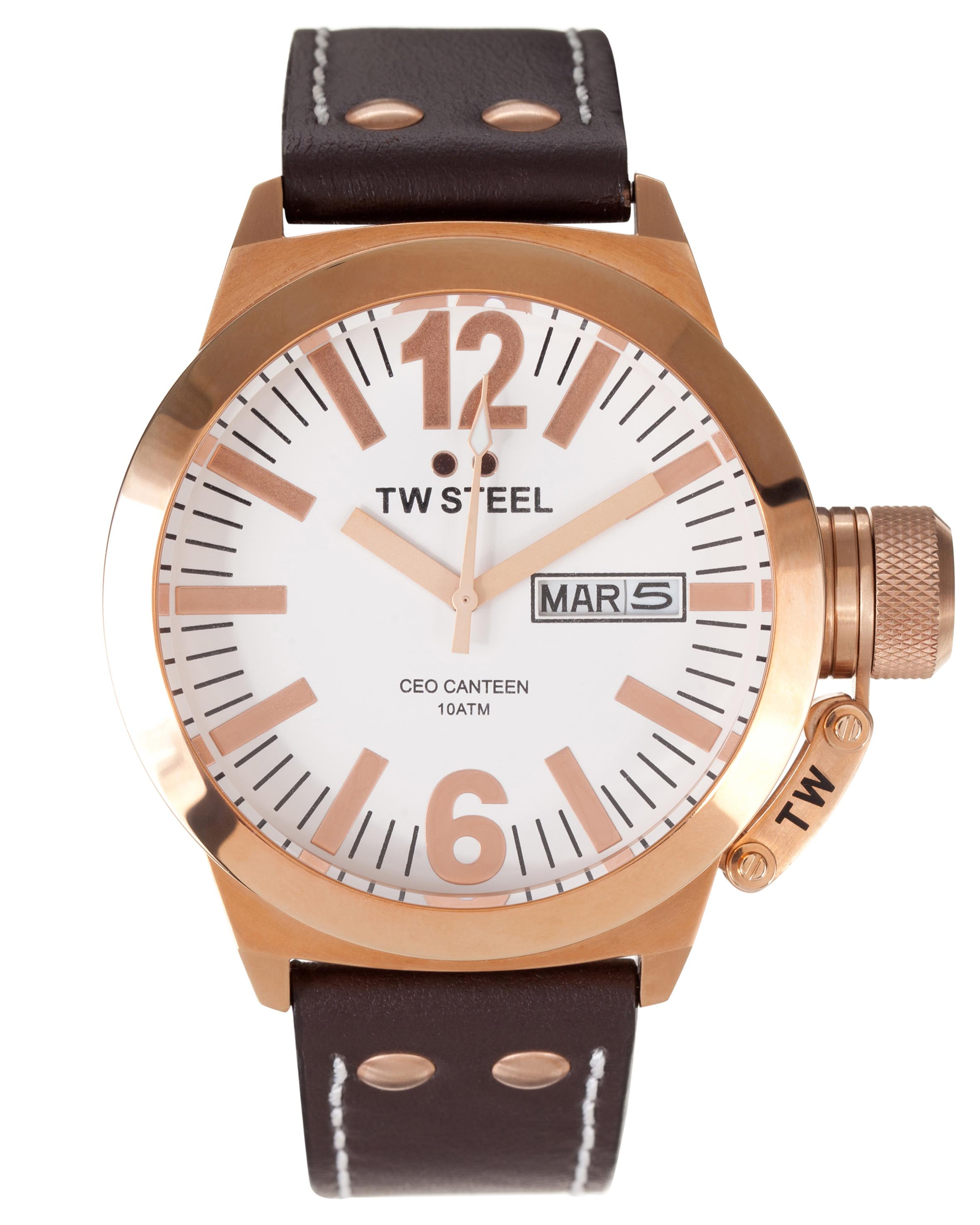 Canteen Leather 45mm by TW Steel Online | THE ICONIC | Australia