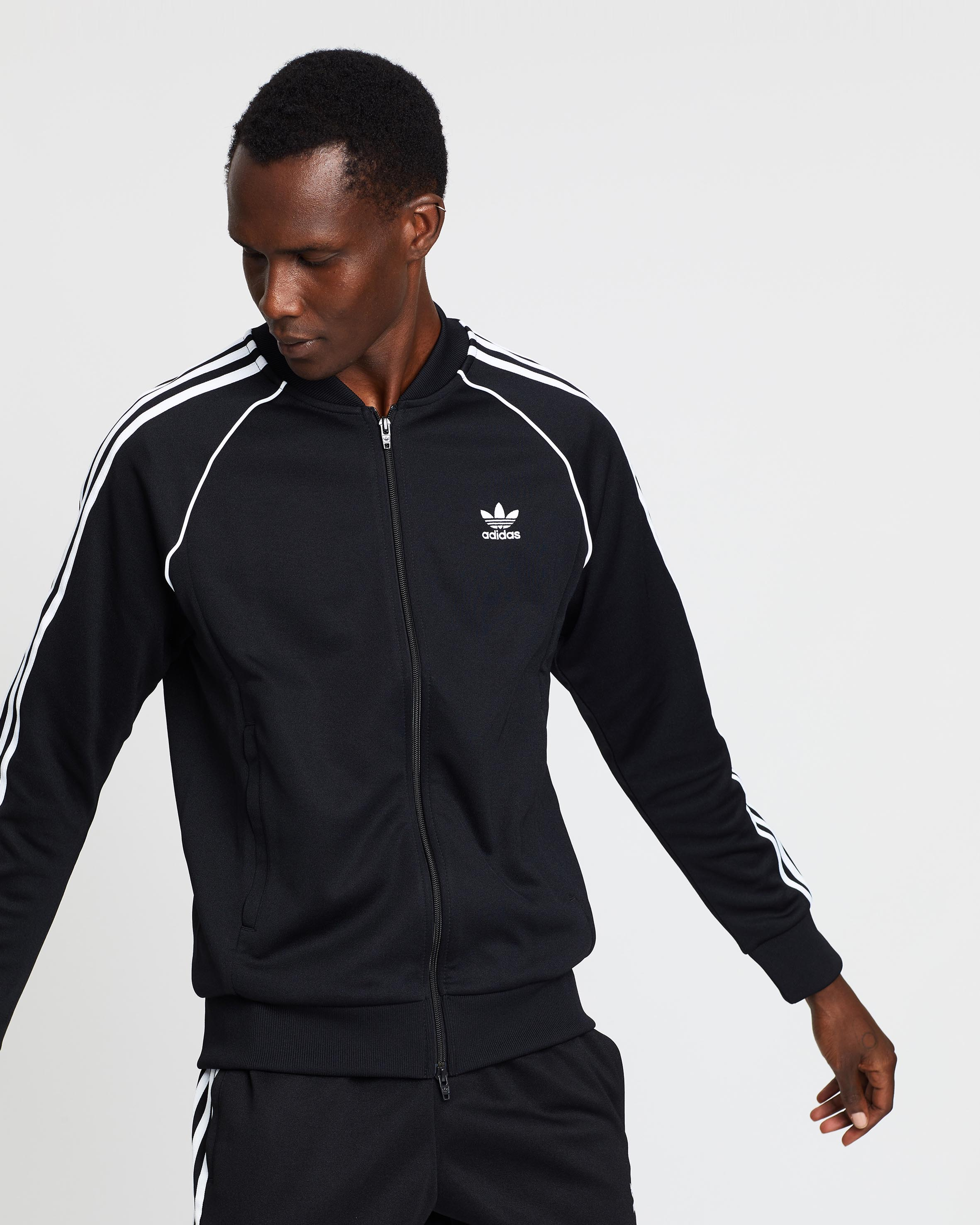 Adidas Men Superstar Relaxed Track Jacket (black white)