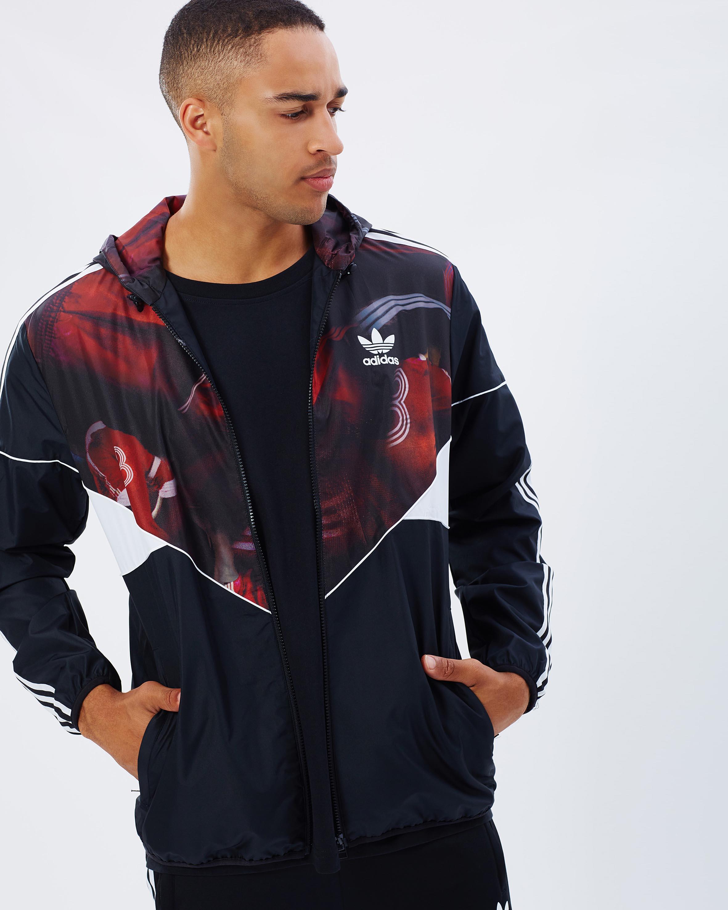 adidas Originals Classic Team Long Track Jacket In Black B48978