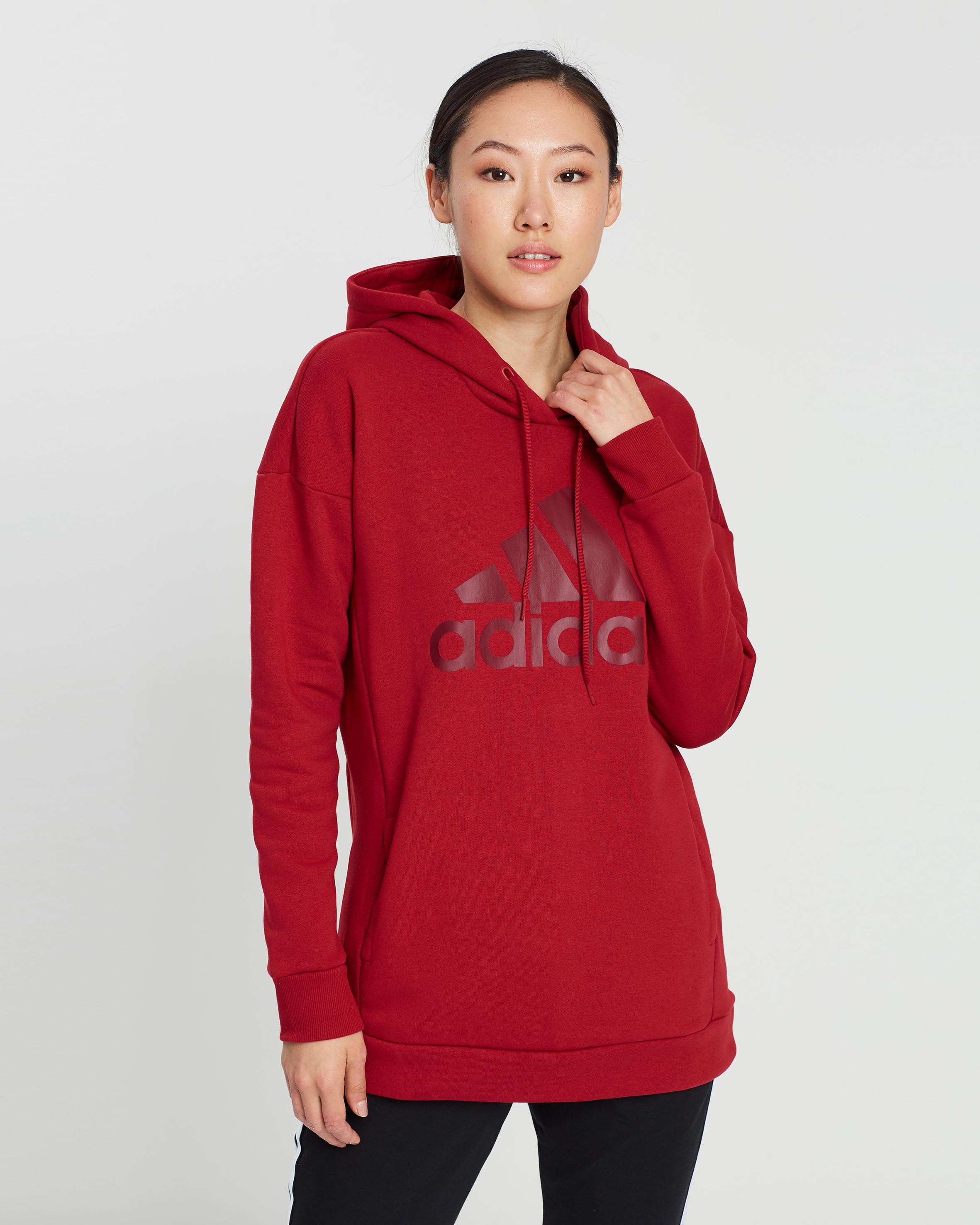 adidas Performance Must Haves Badge Of Sport Hoodie Red