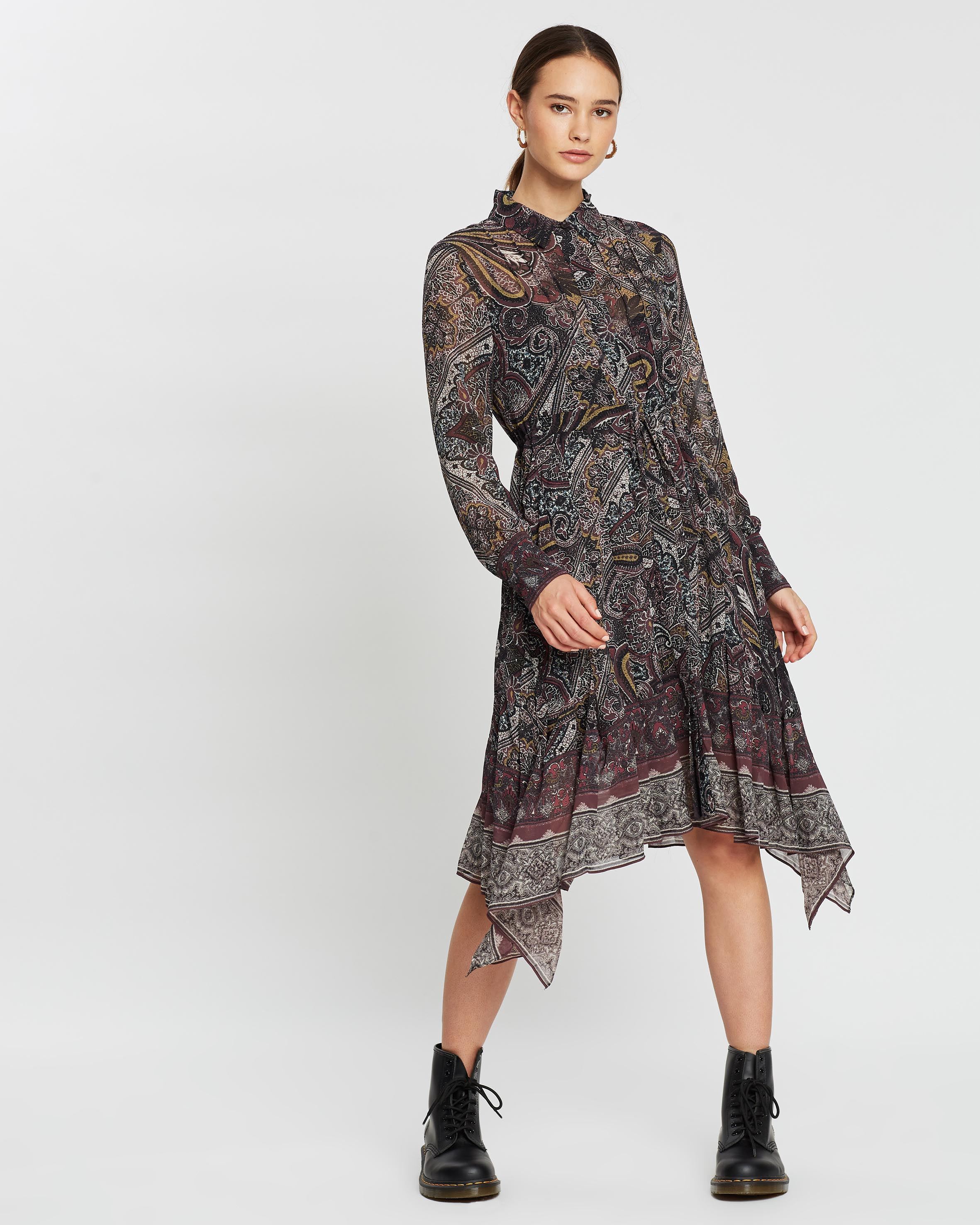 Lizzy Scarf Dress by AllSaints Online | THE ICONIC | Australia