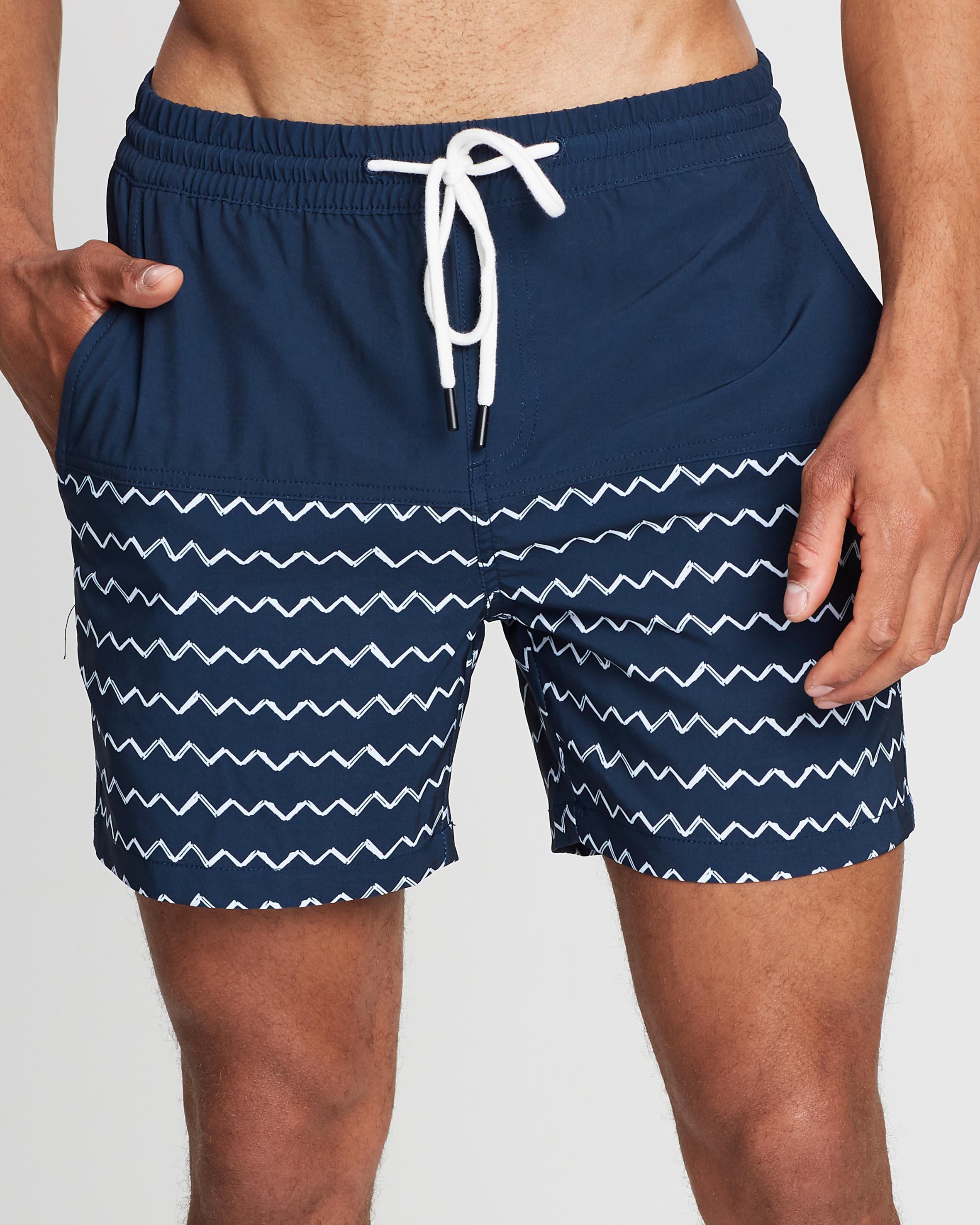 Zig Zag Swim Shorts